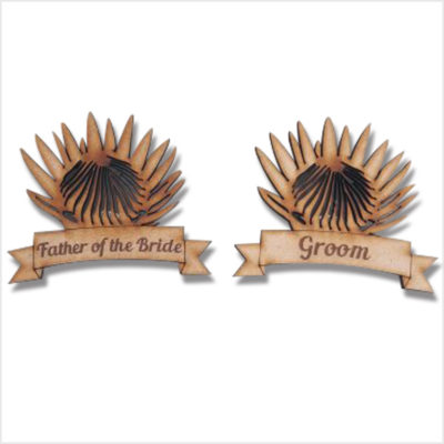 Protea Bridal Party Badge