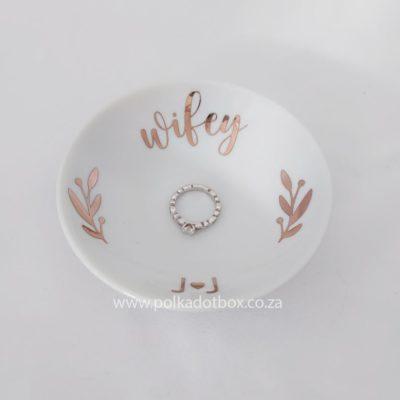 Custom Wifey Ring Dish