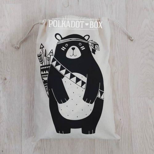 Bear Drawstring Bag